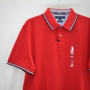 d0a75d2c Tommy Hilfiger Shirts - TOMMY HILFIGER Wicking Performance Pique Polo Red
